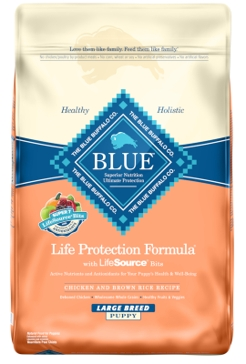 Blue Buffalo Life Protection Puppy Large Breed Chicken & Brown Rice Recipe Dry Dog Food 15lb