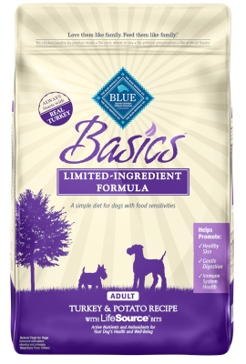 Blue Buffalo Basics Adult Turkey & Potato Dry Dog Food 11lb