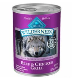 Blue Buffalo Wilderness Grain-Free Beef & Chicken Recipe