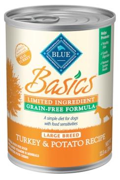 Blue Buffalo Basics Adult Grain Free Large Breed Turkey & Potato Wet Dog Food 12.5oz