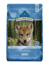 Blue Buffalo Wilderness Chicken Dry Puppy Food, 4.5 lbs