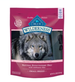 Blue Buffalo Small Breed Wilderness Chicken Adult Dry Dog Food, 4.5 lbs
