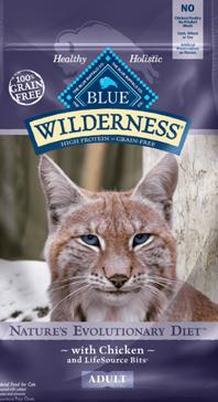 Blue Buffalo Wilderness Chicken Recipe Adult Cat Food 6 lbs