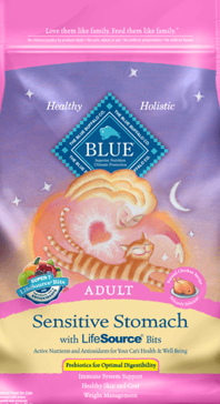 Blue Buffalo Sensitive Stomach Adult Cat Food, 7 lbs