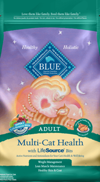 Blue Buffalo Multi-Cat Health Adult Cat Food, 7 lbs