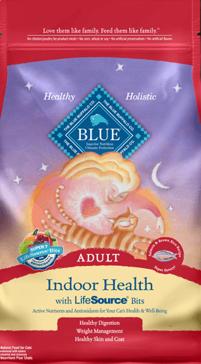 Blue Buffalo Indoor Health Salmon & Rice Adult Dry Cat Food, 15 lbs