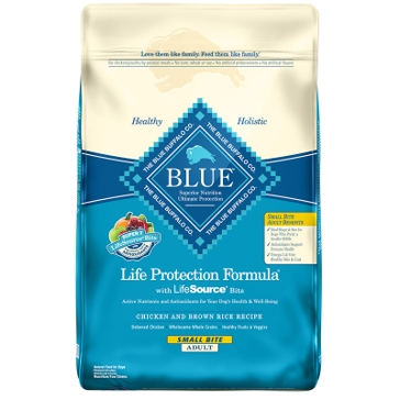 Blue Buffalo Life Protection Adult Small Bite Chicken and Brown Rice Dry Dog Food 15lb