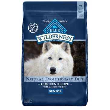 Blue Buffalo Wilderness Senior Chicken Recipe Dry Dog Food 11lb