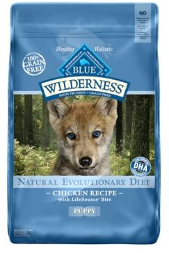Blue Buffalo Wilderness Puppy Chicken Recipe Dry Dog Food 24lb