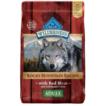 Blue Buffalo Wilderness Adult Red Meat Rocky Mountain Recipe Dry Dog Food 10lb