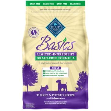 Blue Buffalo Basics Adult Grain-Free Turkey & Potato Recipe Dry Dog Food 4lb
