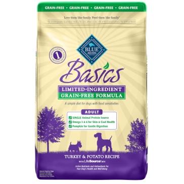Blue Buffalo Basics Adult Grain-Free Turkey & Potato Recipe Dry Dog Food 11lb