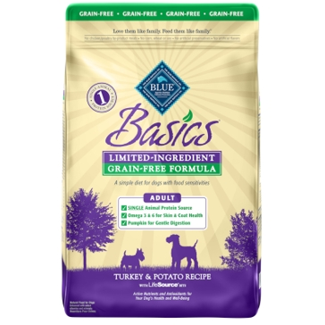 Blue Buffalo Basics Adult Grain-Free Turkey & Potato Recipe Dry Dog Food 24lb