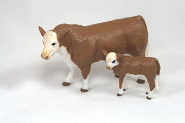 Big Country Toys Hereford Cow and Calf Set