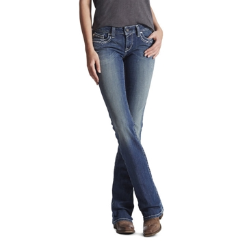 Ariat Women's R.E.A.L. Mid Rise Stretch Jean - Bootcut