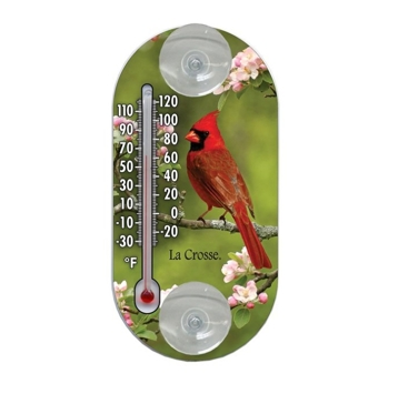 "Window Thermometer 4"" Bird Design - La Crosse Technology"