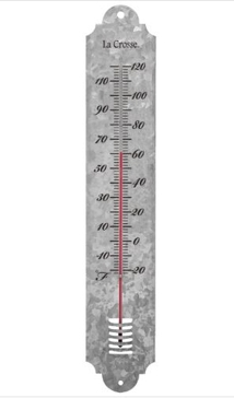 Galvanized Metal Thermometer