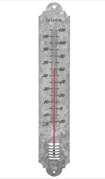 Galvanized Metal Thermometer