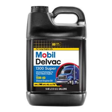 Mobil Delvac 1300 Super 15W-40 Diesel Engine Oil 2.5gal