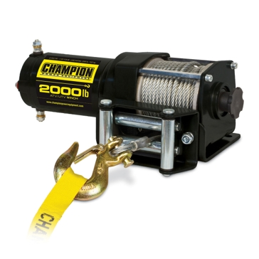 Champion 2000lb Winch Kit ATV/UTV/Trailer