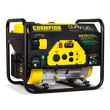 Champion 3500W/4375W 224cc Dual Fuel Generator 100307