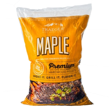 Traeger Maple Wood BBQ Grill Pellets 20lb