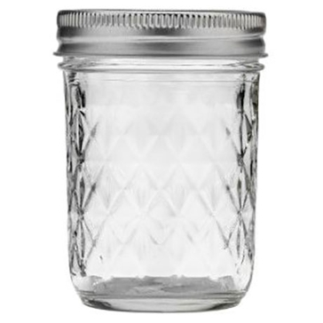 Ball 8oz Quilted Crystal Regular Jelly Canning Jar 12-Count