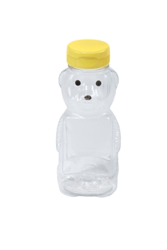 Little Giant 12oz 12-Pack Plastic Bear Honey Bottle