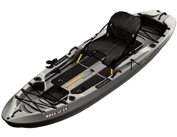 Sun Dolphin 12' Boss 12 SS Sit-On Fishing Kayak Grey