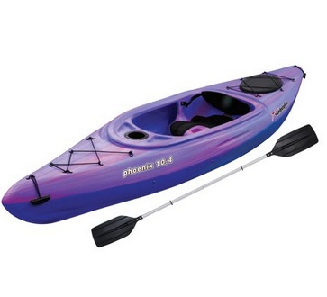 Sun Dolphin Phoenix 10.4 Purple/Pink Sit-In Kayak 53481-P