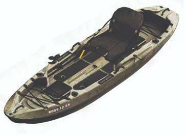 Sun Dolphin 12' Boss 12 SS Sit-On Fishing Kayak Grey 52549
