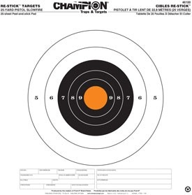 Champion Target Re-Stick Target Pistol Slowfire 46100
