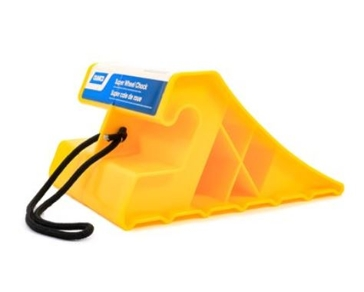 Camco Super Wheel Chock with Rope - Yellow