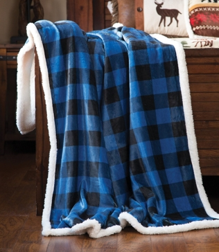 Carstens Wrangler Blue Plaid Throw