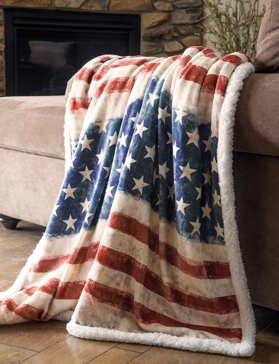 Carstens Wrangler Stars & Stripes Throw