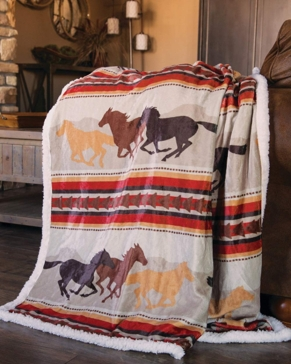 Carstens Wrangler Running Horse Throw