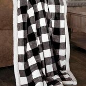 Carstens Black & White Plaid Throw