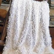 Carstens Shaggy Fur Throw- Off White
