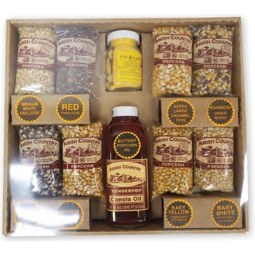 Amish Popcorn Gift Set 4 oz.
