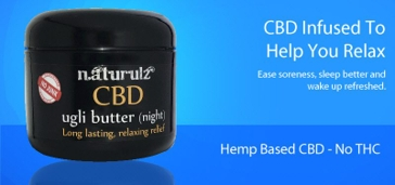 Naturulz CBD ugli butter Night cream 4oz
