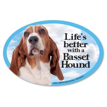 Prismatix Lifes Better With A Basset Hound Magnet