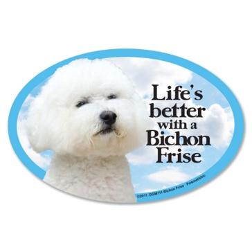 Prismatix  Lifes Better With A Bichon Frise Magnet