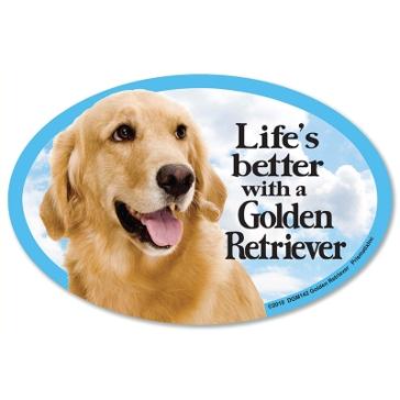 Prismatix  Lifes Better With A Golden Retriever Magnet