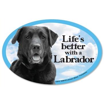 Prismatix Lifes Better With A Black Labrador Magnet