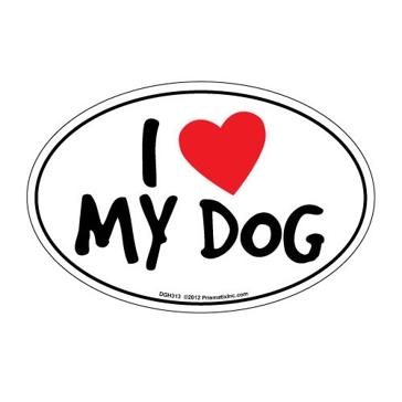 Prismatix I Heart My Dog Magnet