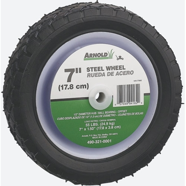 Arnold 7x1.5in Steel Offset Wheel 490-321-0001