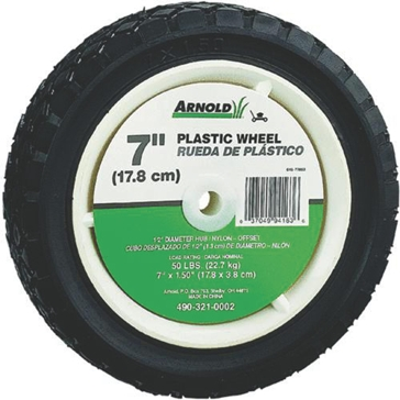 ARNOLD 490-321-0002 Tread Wheel, 1-3/8 in L Hub, Plastic/Rubber