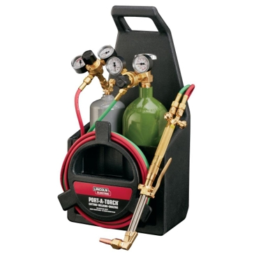 Lincoln Electric Port-a-Torch Kit with Oxygen & Acetylene Tanks Included KH990