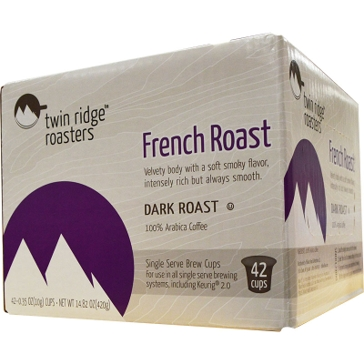 Twin Ridge Roasters 42 K-Cups French Roast Single Serve Coffee