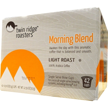 Twin Ridge Roasters 42 K-Cups Morning Blend Single Serve Coffee